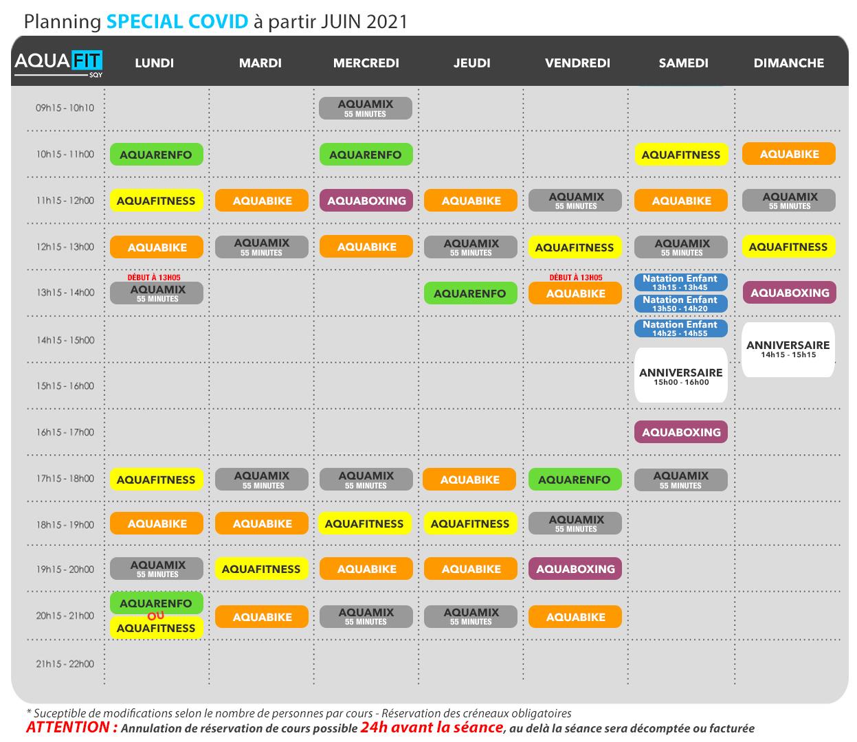 Planning COVID JUIN 2021